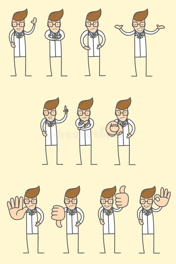 представления характера доктора различные иллюстрация штока
