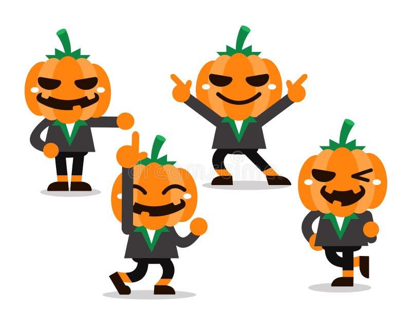 Представления характера тыквы хеллоуина шаржа бесплатная иллюстрация