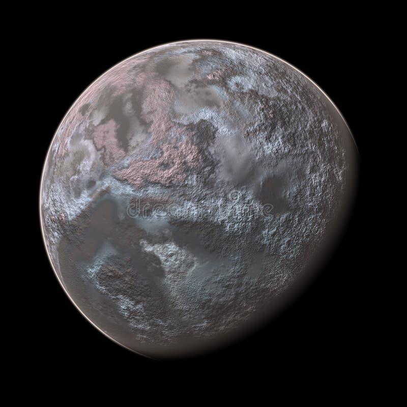 представленная планета 2 3d иллюстрация вектора