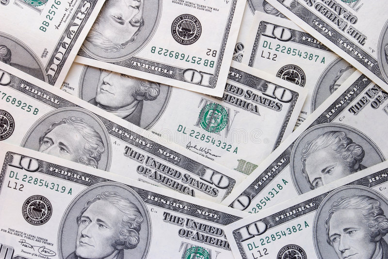 представляет счет доллар 10 стоковые изображения rf