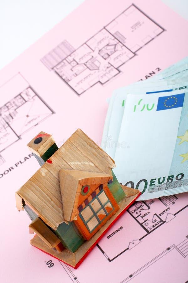 представляет счет дом евро стоковое фото