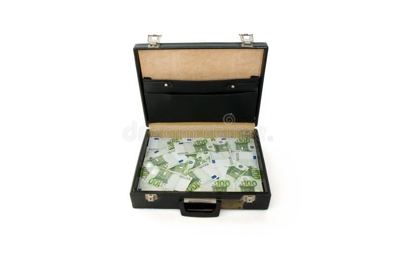 представляет счет евро портфеля 100 одних стоковые фотографии rf