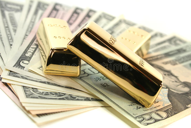 представляет счет золото доллара миллиарда стоковые изображения rf