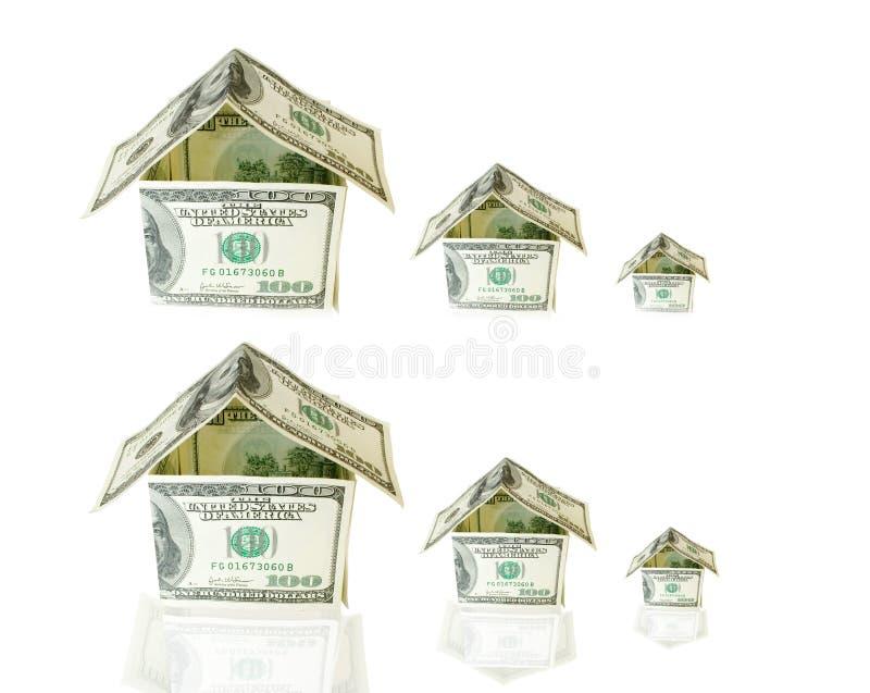 представляет счет сделанная дом доллара стоковая фотография