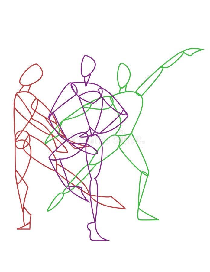 3 представлять гимнастов или танцоров бесплатная иллюстрация