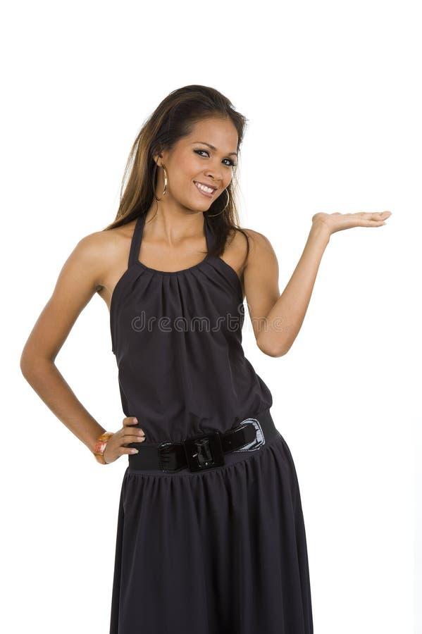 представляющ что-то женщину стоковое фото rf