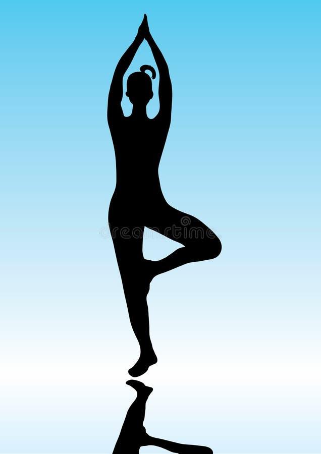 представьте йогу иллюстрация вектора