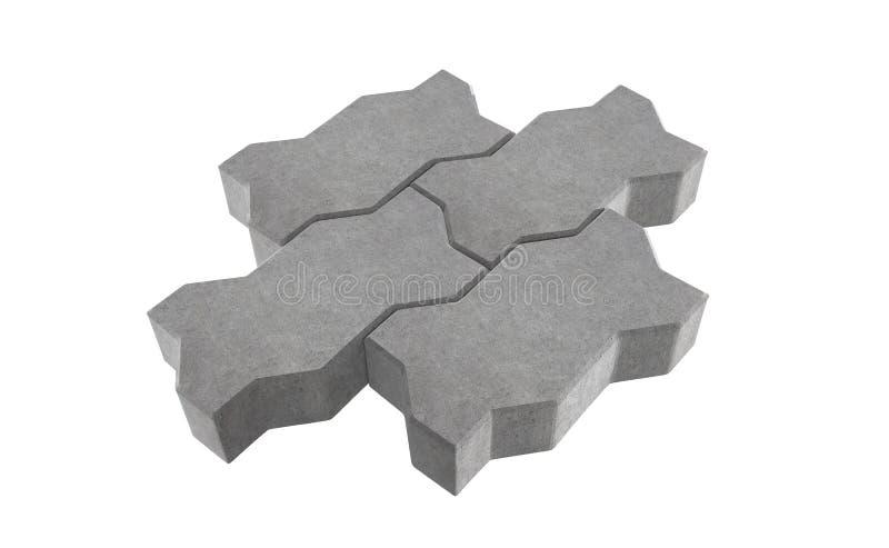 Представьте серого замка 3 вымощая кирпичи белизна изолированная предпосылкой иллюстрация вектора