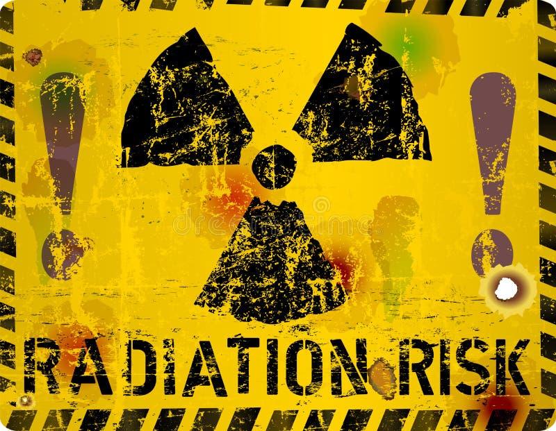 Предупредительный знак радиации, иллюстрация вектора иллюстрация вектора
