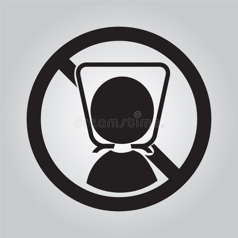 Предупредительный знак с полиэтиленовым пакетом графическая сеть иллюстрации иконы бесплатная иллюстрация