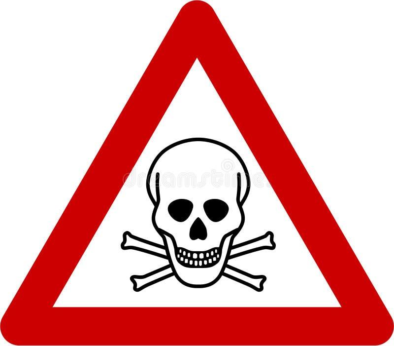 Предупредительный знак с смертельной опасностью иллюстрация штока