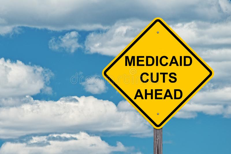 Предупредительный знак Medicaid вперед стоковое фото