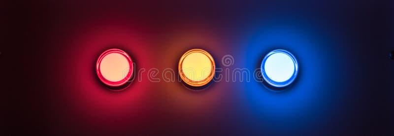 Предупредительный световой сигнал ночи в классе стоковое изображение rf