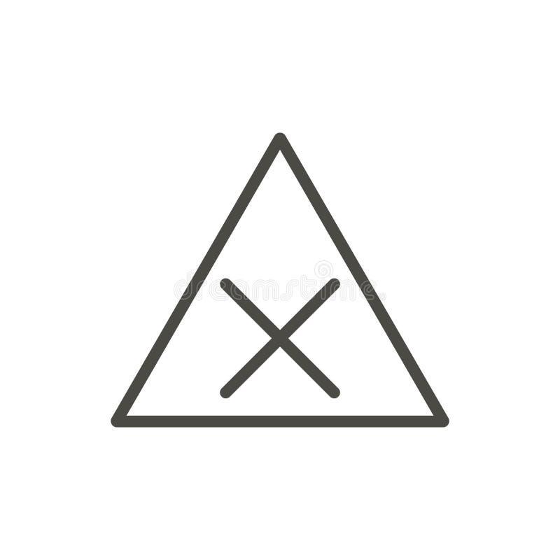 Предупреждающий вектор значка дороги движения Линия изолированный символ риска x T иллюстрация вектора
