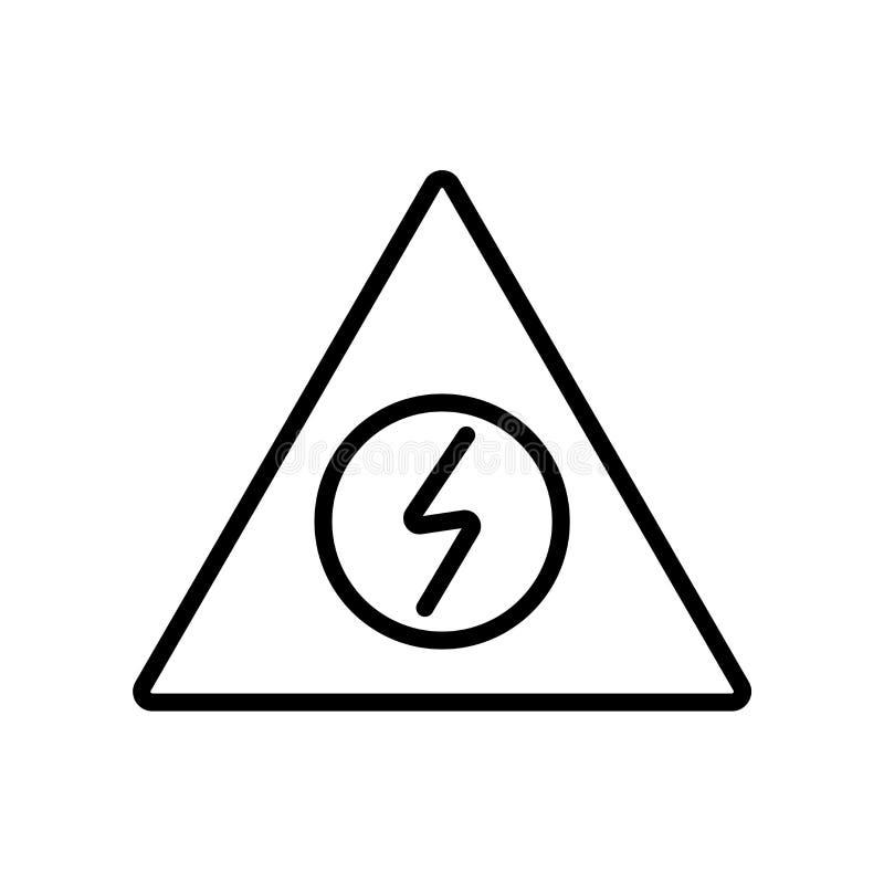 Предупреждающий вектор значка изолированный на белой предпосылке, предупредительном знаке иллюстрация штока