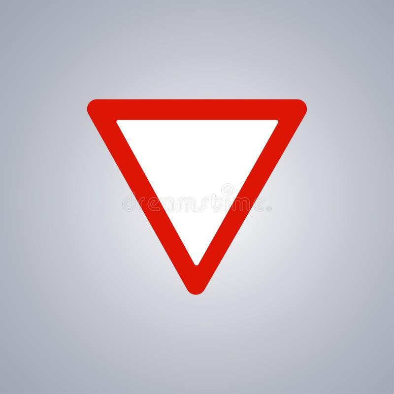 Предупреждающий дорожный знак на серой предпосылке, красном треугольнике Сделайте путь также вектор иллюстрации притяжки corel иллюстрация вектора