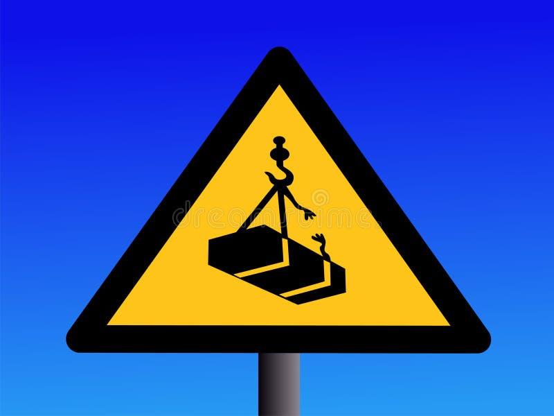 предупреждение грузоподъемностей крана надземное бесплатная иллюстрация