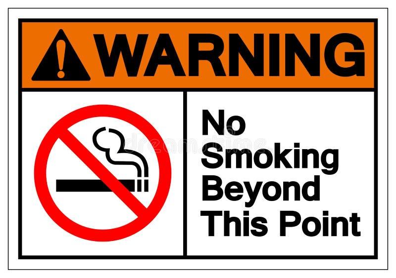 Предупреждение для некурящих за этим знаком символа пункта, иллюстрация вектора, изолированная на белом ярлыке предпосылки EPS10 иллюстрация вектора