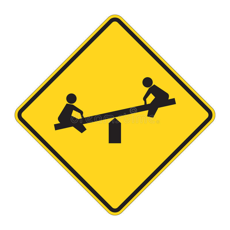 предупреждение дорожного знака спортивной площадки бесплатная иллюстрация