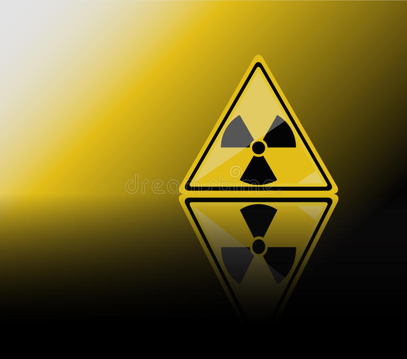 предупреждение знака радиации иллюстрация вектора