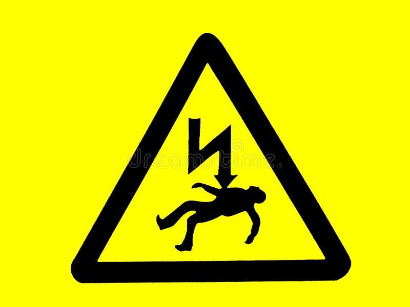 предупреждение знака смерти опасности стоковые изображения rf