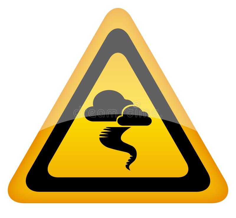 предупреждение знака урагана иллюстрация вектора