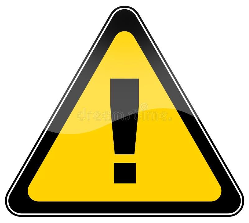 предупреждение знака иллюстрация вектора