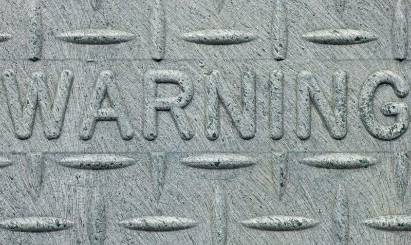 предупреждение знака стоковое изображение