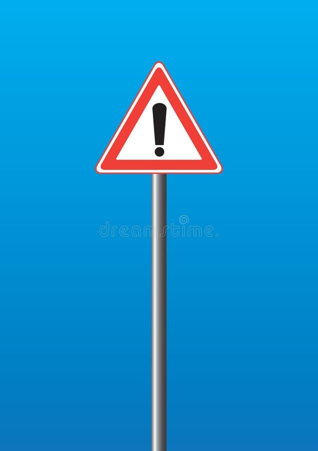 предупреждение знака иллюстрация штока