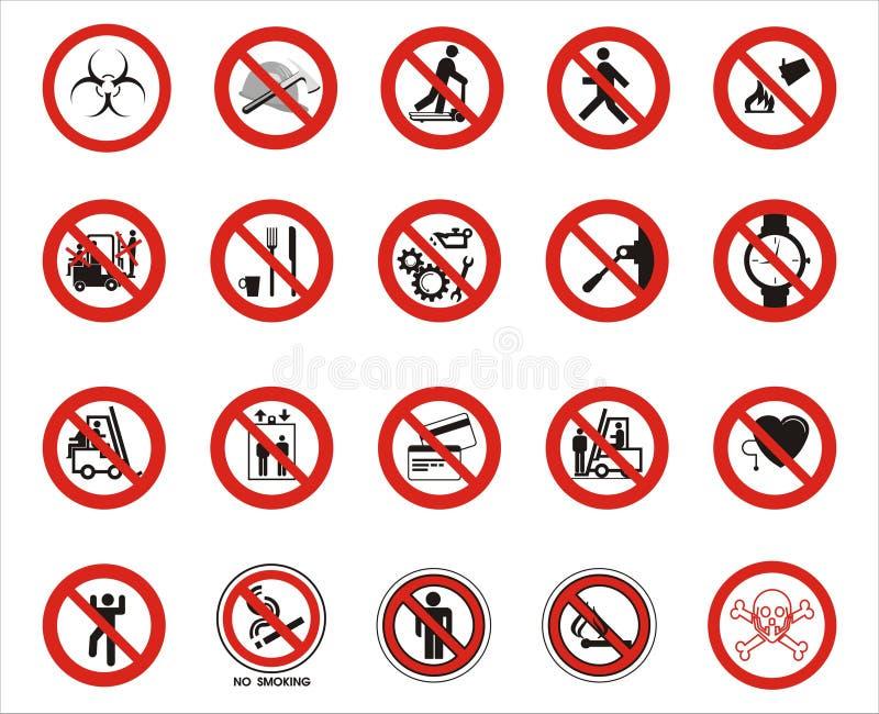 предупреждение знаков иллюстрация штока