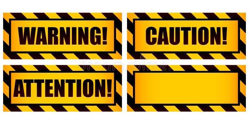 предупреждение знаков иллюстрация вектора