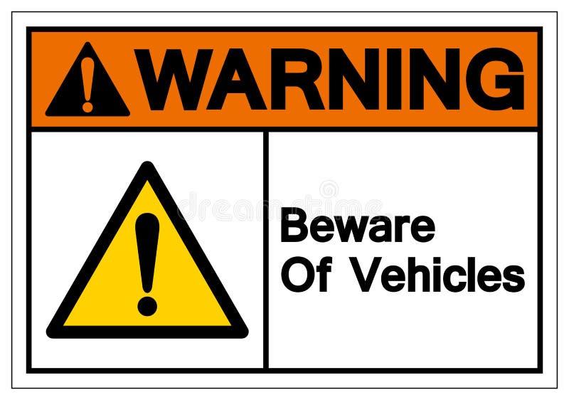 Предупреждение остерегается знака символа кораблей, иллюстрации вектора, изолированной на белом ярлыке предпосылки EPS10 бесплатная иллюстрация