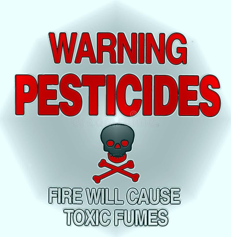 предупреждение пестицида иллюстрация штока