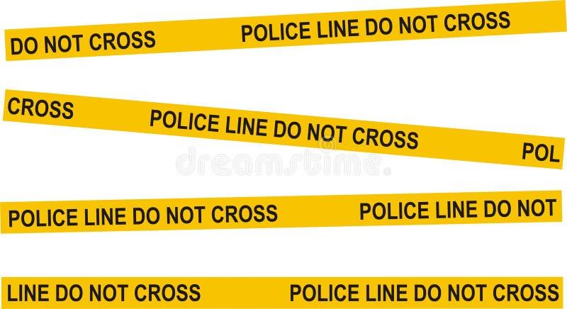предупреждение полиций аварии иллюстрация вектора