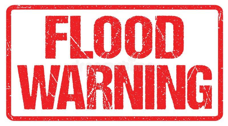 Предупреждение потока предупредительного знака Дозор внезапного наводнения иллюстрация штока