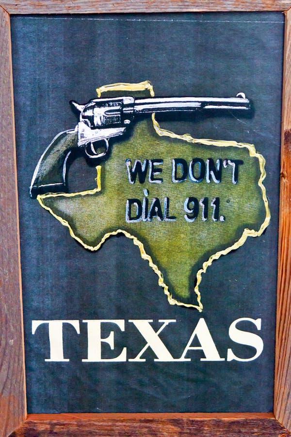 Предупреждение преступности Техас грубое стоковая фотография rf