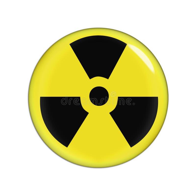 предупреждение радиации иллюстрация вектора