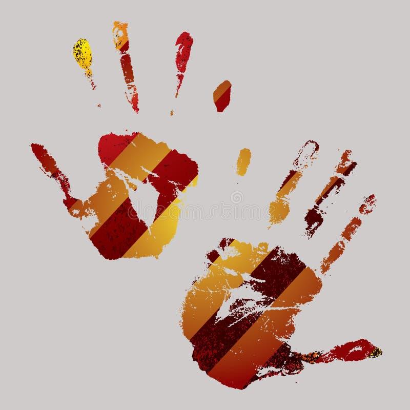 предупреждение руки бесплатная иллюстрация