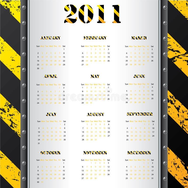 предупреждение 2011 grunge календара предпосылки бесплатная иллюстрация
