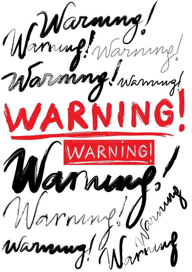 предупреждение иллюстрация штока