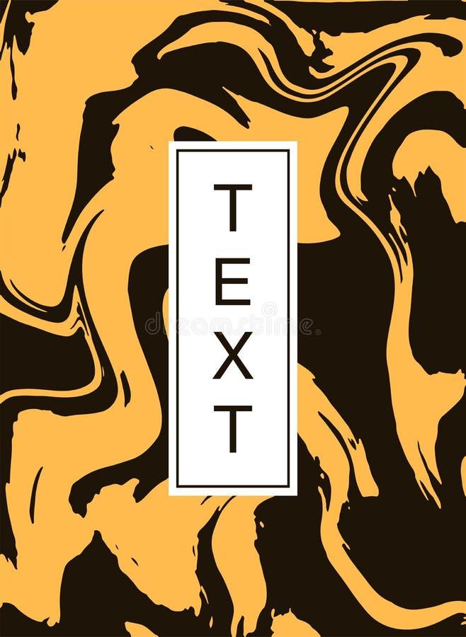 Предусматрива дизайна оранжевая с текстурой кожи тигра абстрактный график предпосылки Всеобщий яркий шаблон для плаката с иллюстрация вектора