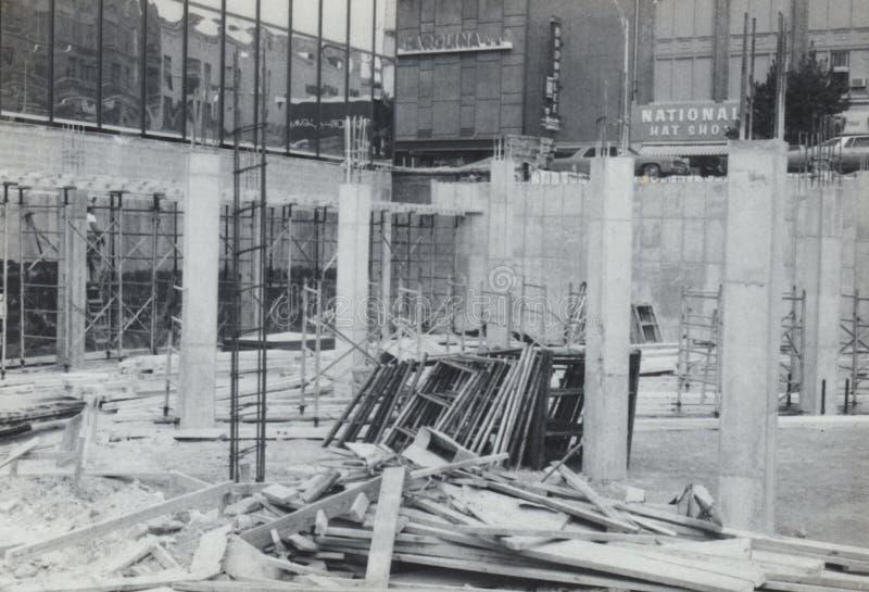 Предыдущая площадь Государственного банка Америки конструкции двери стоковое фото