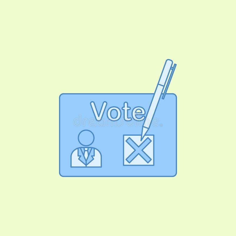 президентский отборный значок плана поля Элемент значка избраний для передвижных apps концепции и сети План президентский choi по бесплатная иллюстрация