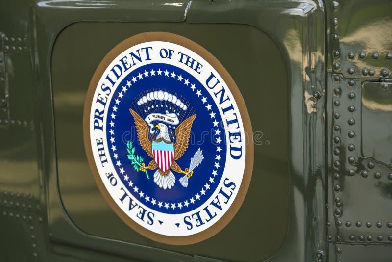 Президентское уплотнение на морском пехотинце одном стоковая фотография rf