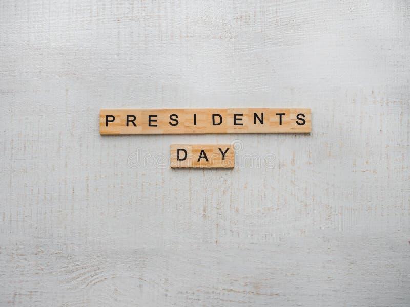 """Президенты """"день Красивая поздравительная открытка Взгляд сверху стоковое изображение"""