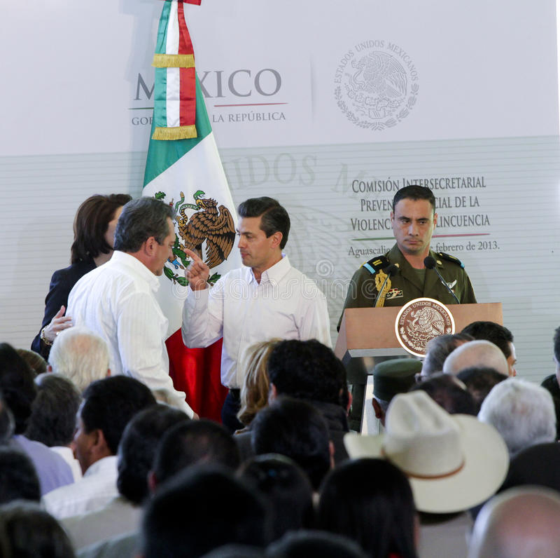 Президент Мексики, Enrique Peña Nieto стоковое фото