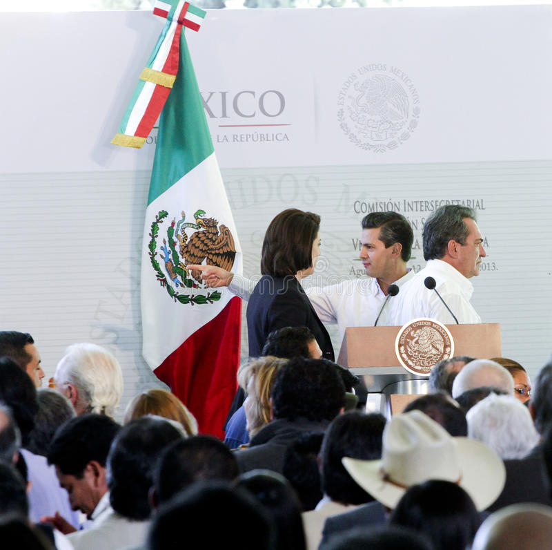 Президент Мексики, Enrique Peña Nieto стоковые фотографии rf