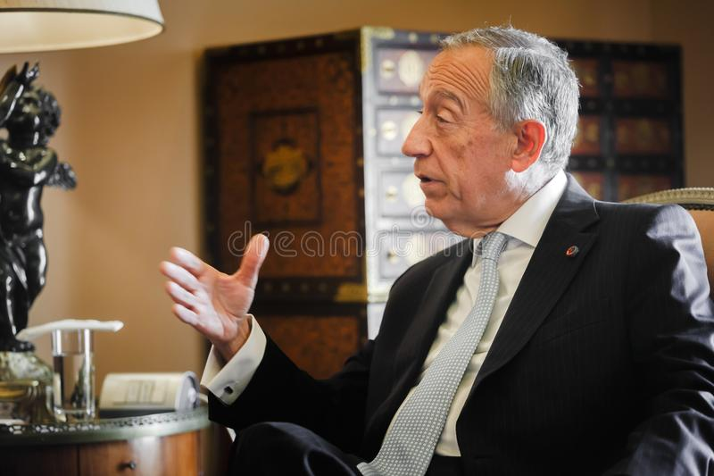 Президент Португалии Marcelo Rebelo de Sousa стоковое фото