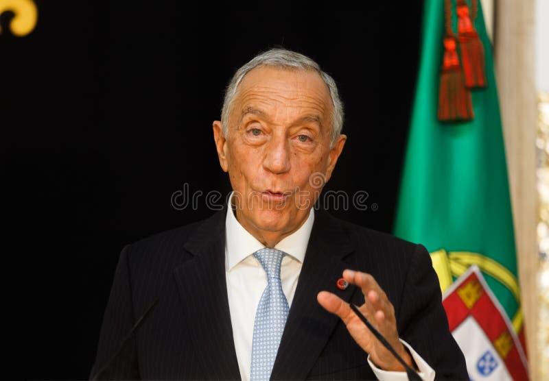 Президент Португалии Marcelo Rebelo de Sousa стоковое изображение