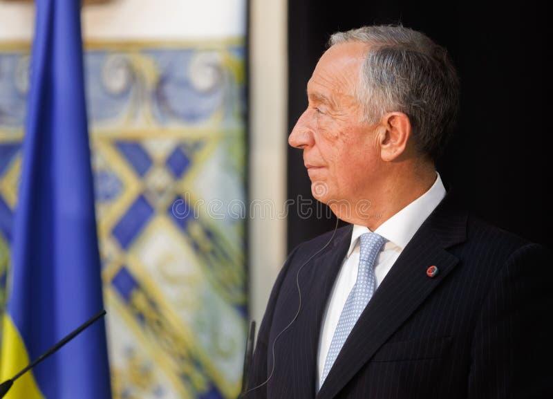 Президент Португалии Marcelo Rebelo de Sousa стоковое изображение rf